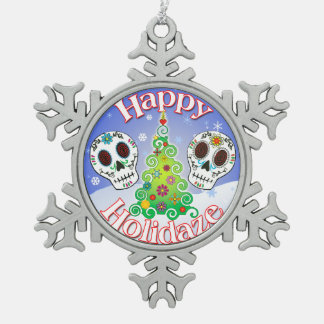 Happy Holidaze Sugar Skull Ornament