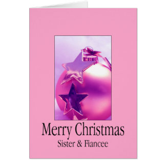 Happy Holigays Sister & Fiancee Card