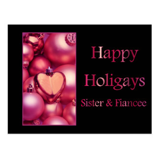 Happy Holigays Sister & Fiancee Postcard