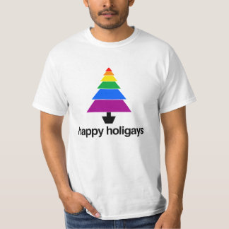 HAPPY HOLIGAYS TREE -.png T Shirts