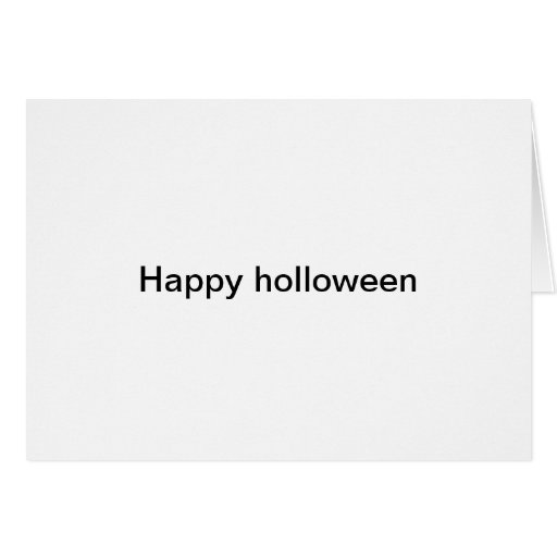 Happy holloween card