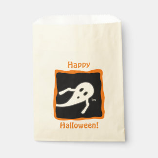 Happy Holloween Cute Ghost Saying Boo Favour Bags