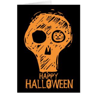 Happy Holloween Skull 2 Note Card