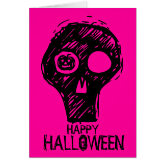 Happy Holloween Skull 3 Note Card