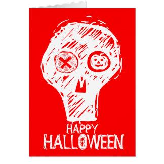 Happy Holloween Skull 4 Note Card