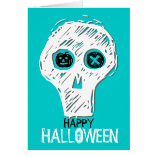 Happy Holloween Skull 5 Note Card
