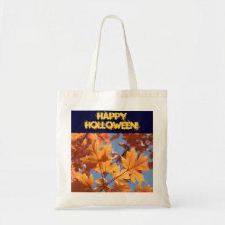 Happy Holloween! tote bag cloth Orange Leaves