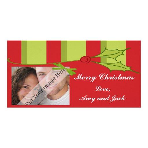 Happy Holly Christmas Photo Card