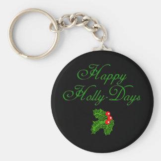 Happy Holly Days Apparel Stocking Stuffers Key Chain