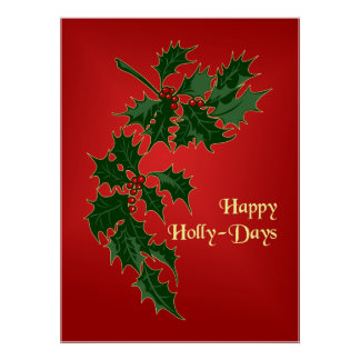 Happy Holly-Days Christmas Poster