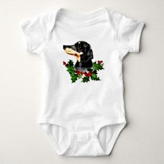 Happy Hollydax Christmas Dachshund Holidays Baby Bodysuit