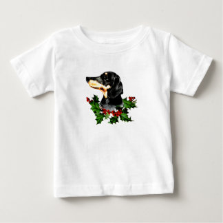Happy Hollydax Christmas Dachshund Holidays Baby T-Shirt