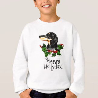 Happy Hollydax Christmas Dachshund Holidays Sweatshirt