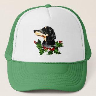 Happy Hollydax Christmas Dachshund Holidays Trucker Hat