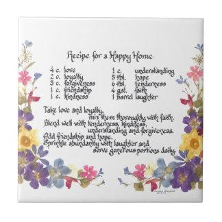 Happy Home Recipe Tile