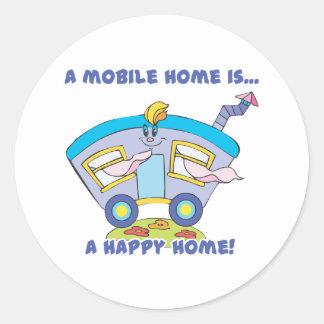 happy home round stickers