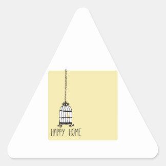 Happy Home Triangle Sticker