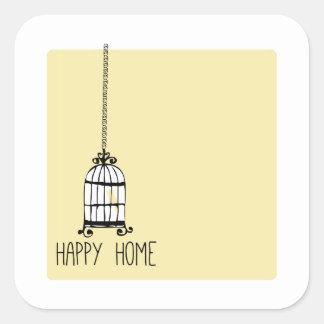 Happy Home Sticker
