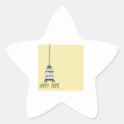 Happy Home Star Sticker