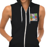 Happy Homes Sleeveless Zip Hoodie MADE IN USA