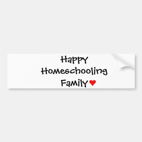 Happy Homeschooling Family Bumper Sticker