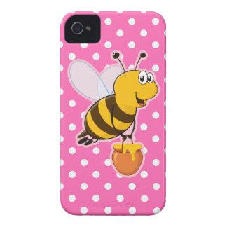 Happy Honey Bee & Hot Pink Polka Dot Case