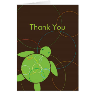 Happy Honu Folded Thank You Note Card