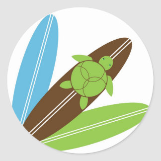 Happy Honu Loves Surf Sticker