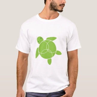 Happy Honu (sea turtle) Organic T-shirt