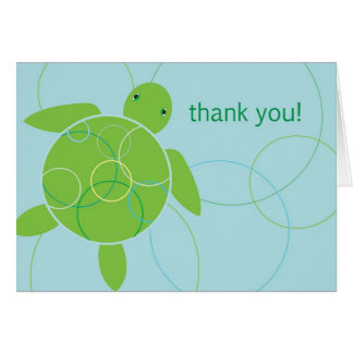 Happy Honu Thank You Card - Blue