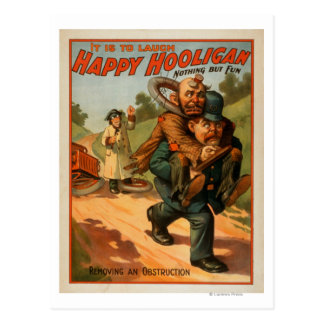 "Happy Hooligan ""It is to Laugh"" Theatre Poster Postcard"