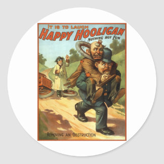 Happy Hooligan - Removing an Obstruction Round Sticker