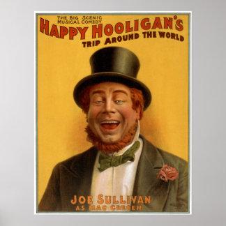 Happy Hooligan s Trip Around the World Posters