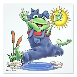 Happy Hoppin' Frog Invitation by SRF