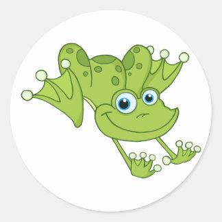 Happy Hopping Frog Sticker