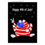 Happy Hoppy Frog Peace 4th of July Independence