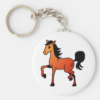 Happy Horse Basic Round Button Key Ring