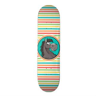 Happy Horse Bright Rainbow Stripes Skate Decks