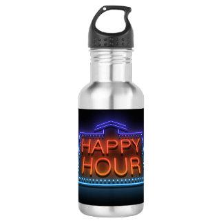 Happy hour. 532 ml water bottle