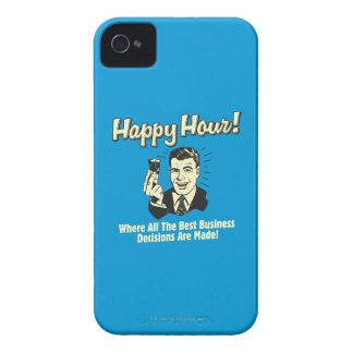 Happy Hour: Best Business Decisions Are Made Happ iPhone 4 Cases