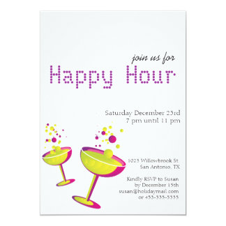 Happy Hour Cocktails Party Invite