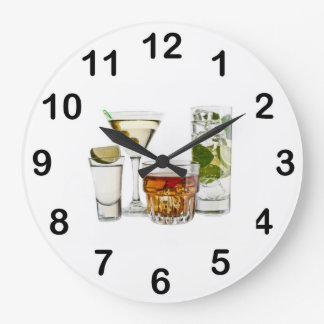 Happy Hour Cocktails Wall Clock
