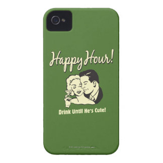 Happy Hour: Drink Until He's Cute iPhone 4 Cover