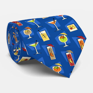 Happy Hour Fifties Cocktail Royal Blue Tie