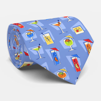 Happy Hour Fifties Cocktail Sky Blue Tie