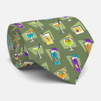 Happy Hour Fifties Cocktail Tie