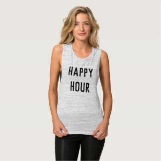 Happy Hour fitness yoga running muscle tshirt