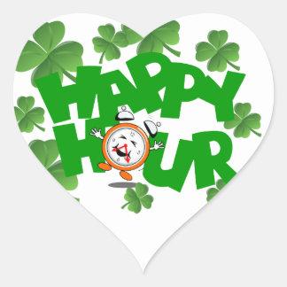 Happy hour heart sticker