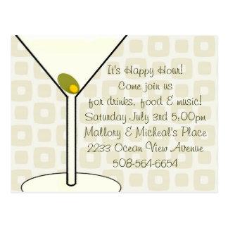 Happy Hour Invitation Postcard