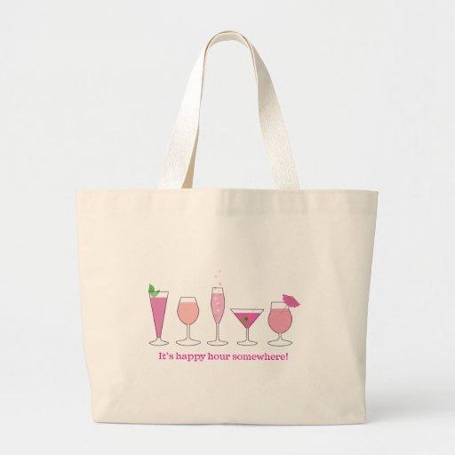 happy hour jumbo tote bag